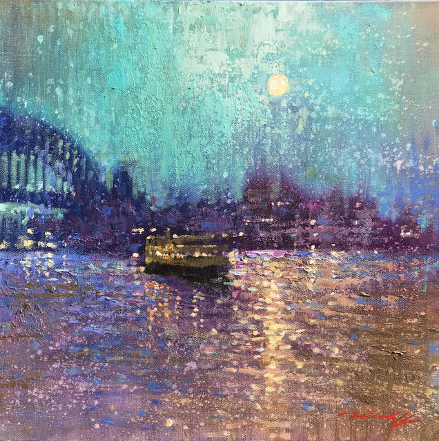 , 'Moonlight on the Harbour,' 2019, Wentworth Galleries