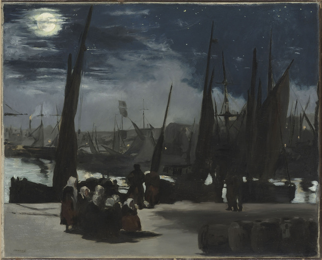 , 'Moonlight at the Port of Boulogne,' 1868, The National Gallery, London