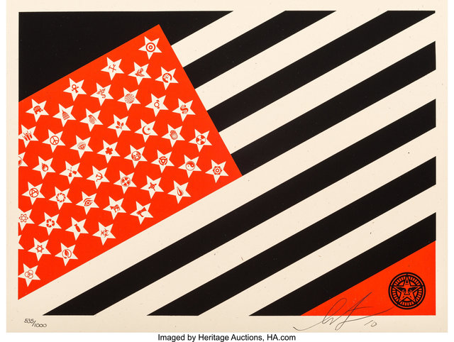 Shepard Fairey (OBEY), 'Mayday Flag (Small)', 2010, Heritage Auctions