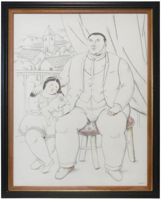 Fernando Botero, 'Man with little girl and cat', 2013, La Maison de la Petite Sara