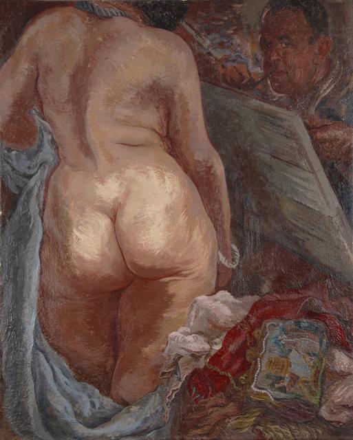 , 'Selbstportrait mit Akt - Selfportrait with Nude,' 1937, Henze & Ketterer