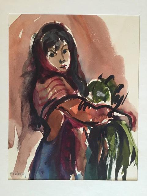Katherine Librowicz, 'Women with Parrot on Arm', 20th Century, Lions Gallery