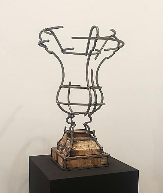 Juan Garaizabal, 'Vase des Tuileries XV', 2018, Sculpture, Acier et bois, Bogena Galerie