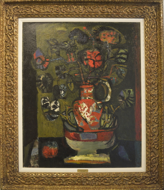 Antoni Clavé, 'Vase With Flowers', 1954, Painting, Oil on Canvas, Queen Fine Arts