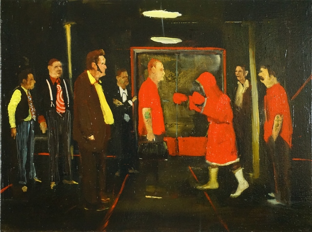 Michael Harrington, 'The Red Lightweight', 2018, Painting, Huile sur toile / Oil on canvas, Galerie de Bellefeuille