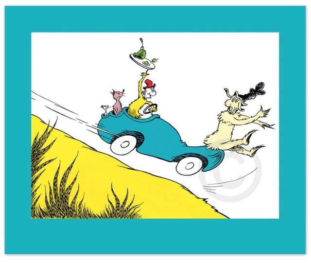 Dr. Seuss, 'Dr. Seuss, Would You? Could You? In a Car?', Oliver Cole Gallery