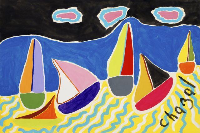 Malcolm de Chazal, 'Untitled (Sail Boats)', Roseberys