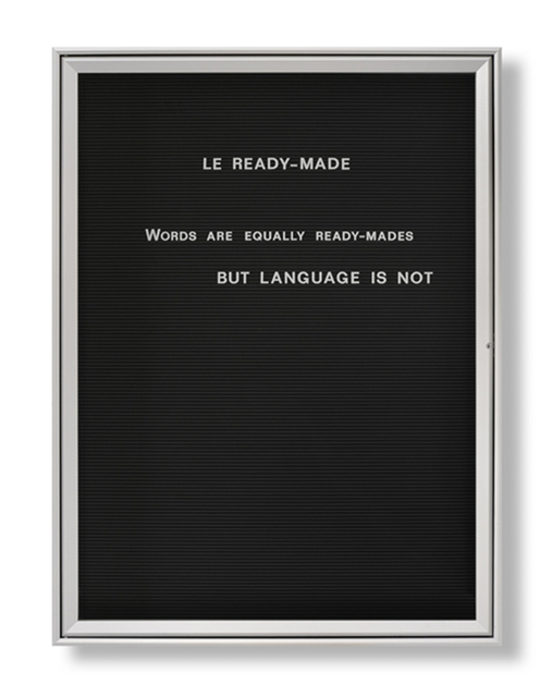 , 'Untitled (Le Ready-Made...),' 2008, Vistamare
