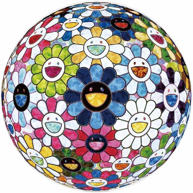 Takashi Murakami, 'The Flowerball's Painterly Challenge', 2016, Print, Offset lithograph in colours on wove paper, Lougher Contemporary