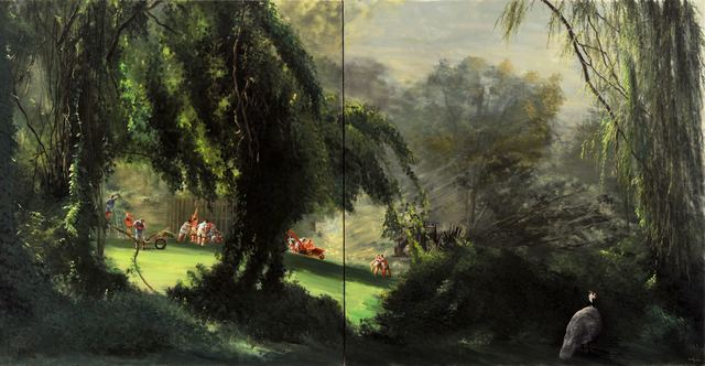 , 'Big Fence with Bird,' 2011, Barney Savage Gallery
