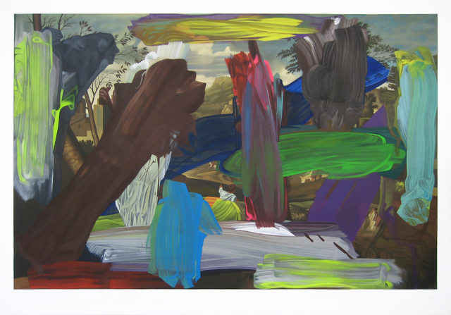 Bob Knox, 'Dusk (over Poussin)', 2016, Painting, Acrylic on canvas, William Havu Gallery