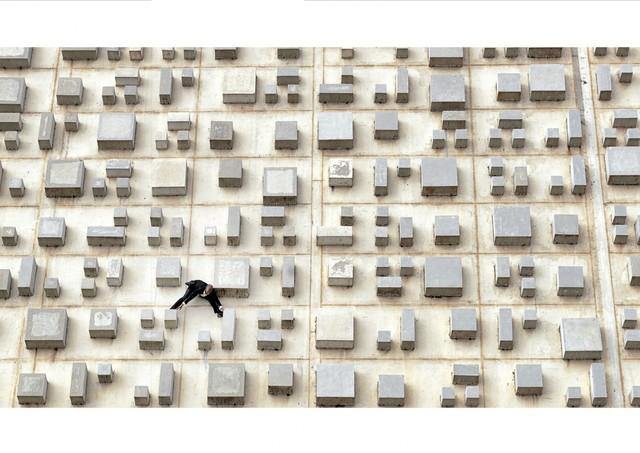 , 'Facade of the Claudio Santoro National Theater, concrete panel by Athos Bulcào, Brasilia,' 2012, [Perpitch et Bringand]