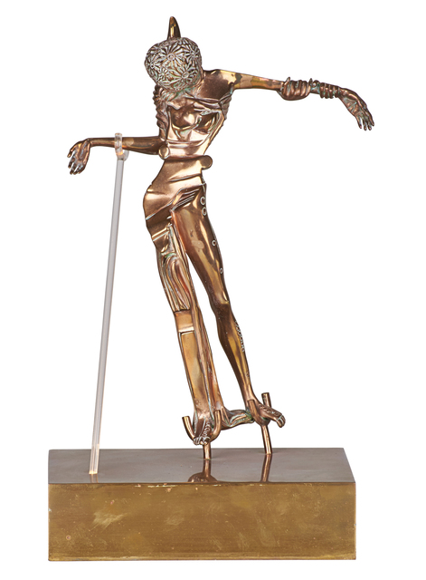 Salvador Dalí, 'Femme à la Tête de Rose', 1981, Sculpture, Bronze, gold patina and Plexiglas on a brass base, Rago/Wright