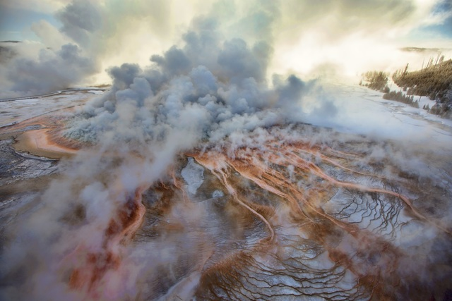 , 'Grand Prismatic Spring at Minus 10 Degrees, Yellowstone National Park,' 2014, Philadelphia Museum of Art