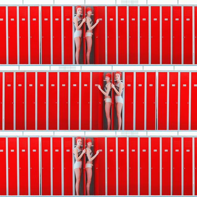 , 'Triple Locker (Cervena),' 2017, Think + Feel Contemporary