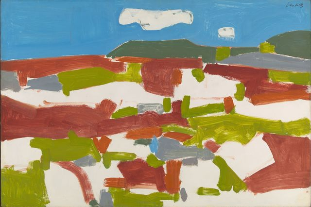 , 'Blueberry Field,' 1955, Colby College Museum of Art
