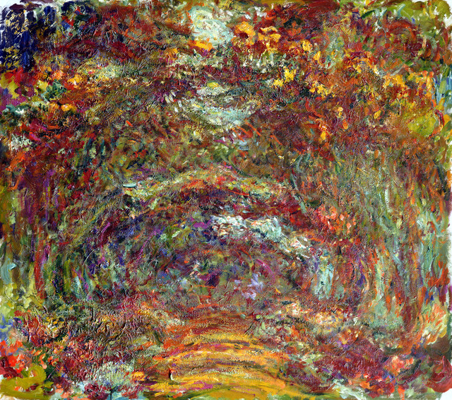 , 'Path under the Rose Arches,' 1918–1924, de Young Museum