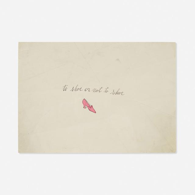 Andy Warhol, 'To Shoe or Not to Shoe (from the A la recherche du shoe perdu portfolio)', c. 1955, Rago/Wright