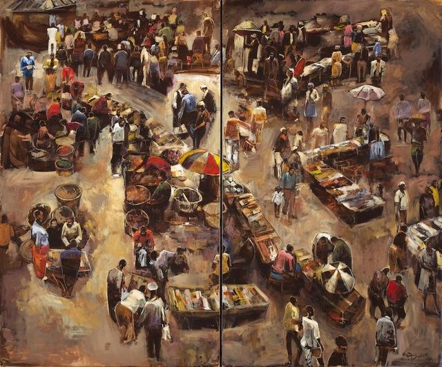 , 'Flea Market (Diptych),' 2015, CIRCA Gallery