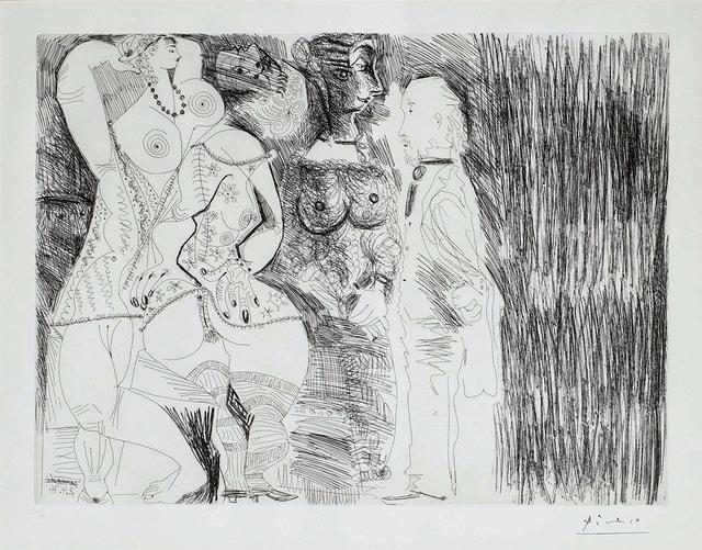 Pablo Picasso, 'Degas imaginant, scène de séduction entre deux filles, avec Matrone hypocrite', 1971, Galerie Céline Moine & LGFA