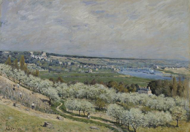 Alfred Sisley, 'The Terrace at Saint-Germain, Spring', 1875, Walters Art Museum