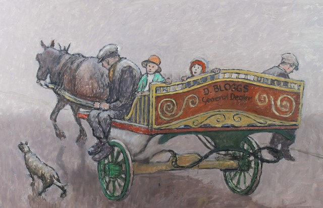 , 'D>BLOGGS horse and cart,' ca. 1968, Castlegate House Gallery