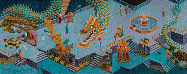 , 'The V' Day in coiled dragon garden,' 2019, Yiri Arts