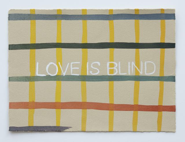 Julia Kuhl, 'Domestic Textiles Series, Love Is Blind', 2019, frosch&portmann