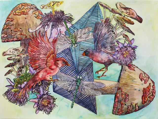 , 'Red Bird's Haven / Le Paradis de l'oiseau Rouge,' 2016, Galerie D'Este