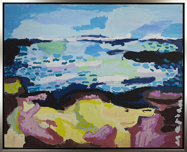 ", 'Plage au Jour Venteux ""Beach on a Windy Day"",' 2012, David Barnett Gallery"