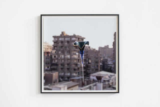 Hassan Khan, 'a glass object photographed as a way of collecting the world around it', 2013, Photography, Colour photograph, Galerie Chantal Crousel
