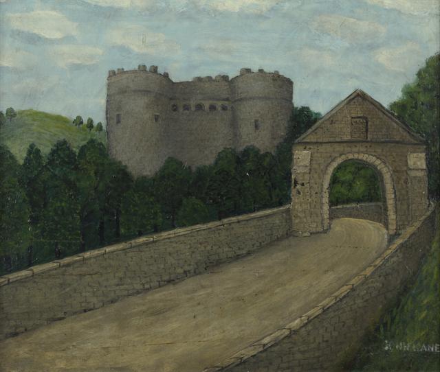 John Kane, 'Castle in Scotland', Undated, Painting, Oil on board., Galerie St. Etienne
