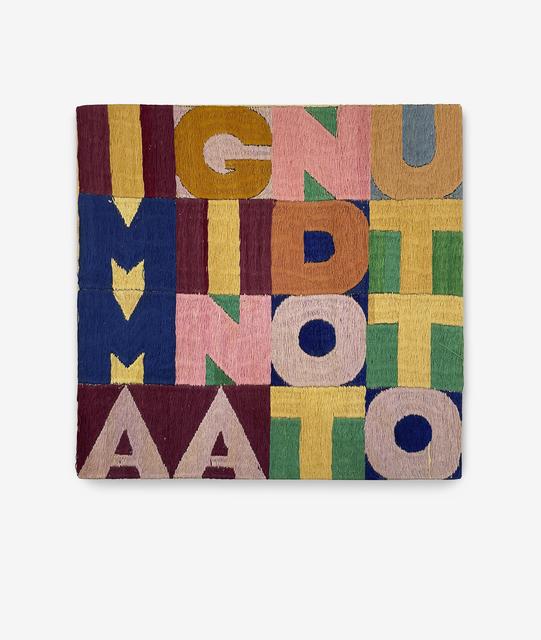 Alighiero Boetti, 'Immaginando tutto', 1979, Textile Arts, Embroidery, Eduardo Secci Contemporary