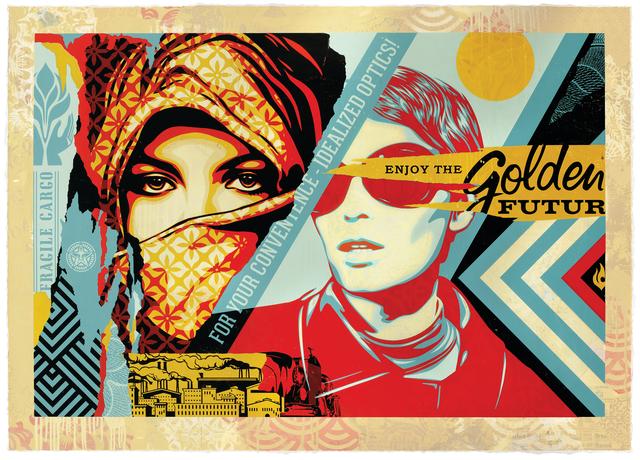 Shepard Fairey, 'Golden Future', 2018, Galerie Ernst Hilger