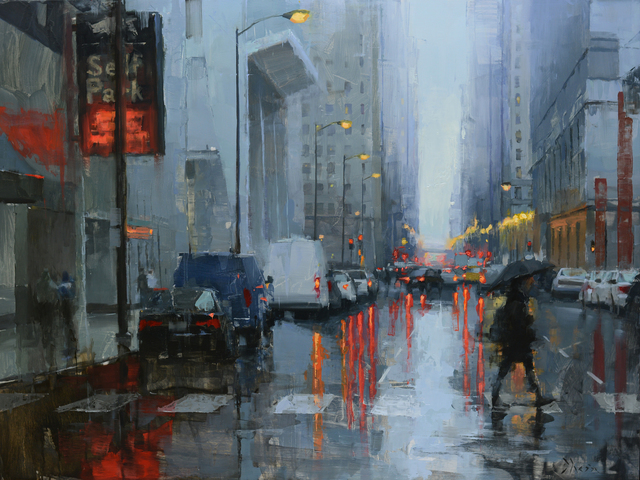 , 'Chicago in the Rain III,' 2018, Abend Gallery