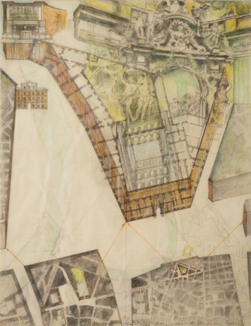 Barbara Stauffacher Solomon, 'Piazza Borghese, Rome', 1983, Edward Cella Art and Architecture