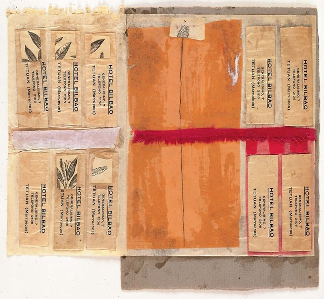 Robert Rauschenberg, 'Untitled [Hotel Bilbao]', ca. 1952, Collage: engravings, printed paper, paper, fabric, graphite, and glue on paper mounted on paperboard, Robert Rauschenberg Foundation