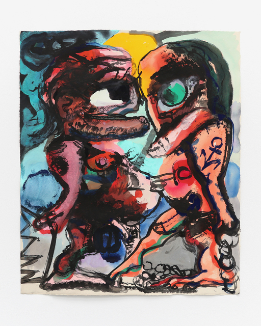 Dana Schutz, 'The Meeting', 2017, Painting, Gouache on Paper, LAXART Benefit Auction