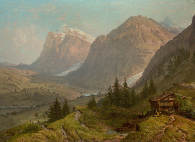 , 'Alpine Landscape,' 1860, Questroyal Fine Art