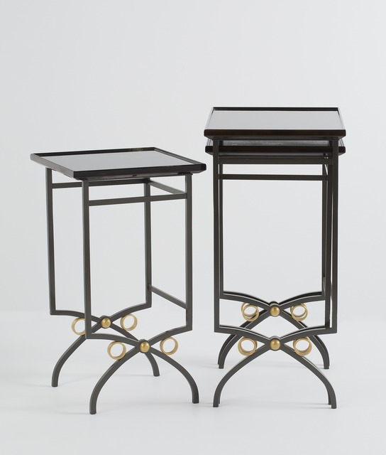 , 'Set of Three Nesting Tables,' ca. 1950, Maison Gerard