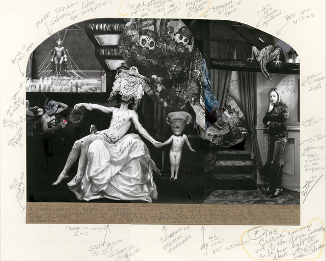 Joel-Peter Witkin, 'Theater of Agony', 2017, Photography, Gelatin silver print collage with pencil on paper, Etherton Gallery