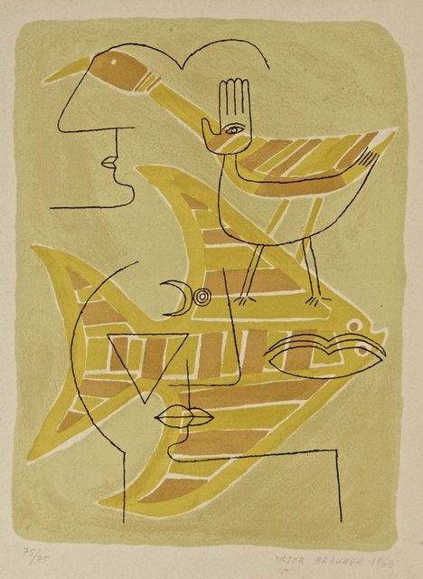 Victor Brauner, 'Figures with Animals', 1963, Wallector