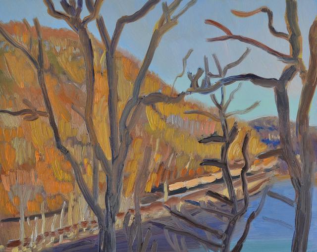 , 'Sitting Train, Conn. River, Bellows Falls, Spring,' 2018, Canal Street Art Gallery