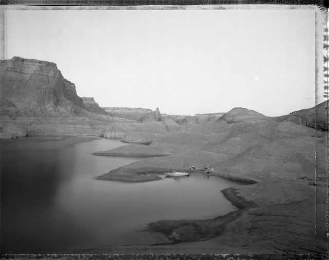 , 'Campsite Reached by boat through watery canyons, Lake Powell, 8/20/83,' , Etherton Gallery