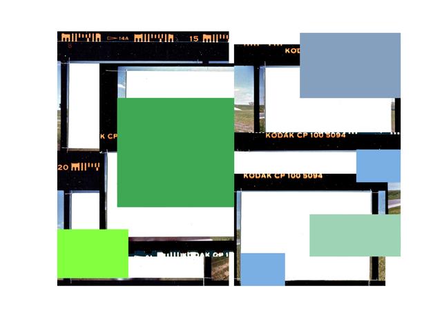 , 'Folio au carré vert (d'après Sur l'autoroute 20 est),' 2014, Galerie Graff