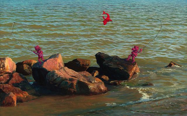 , 'Red Mermaid,' 2016, RuArts Gallery