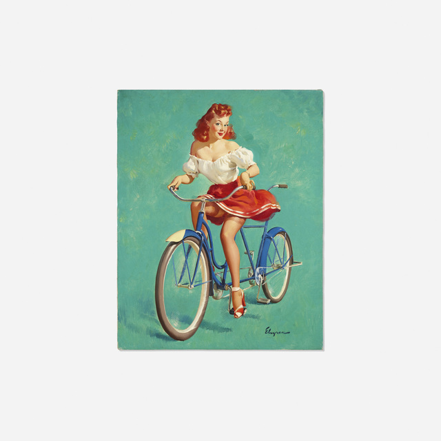 Gil Elvgren, 'This Bicycle's Built for Woo', 1947, Rago/Wright