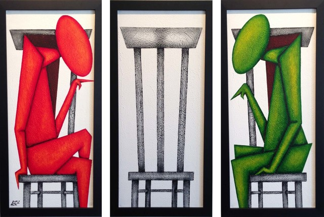Benito Lopez, 'Conversation - Triptych', 2013, Octavia Art Gallery