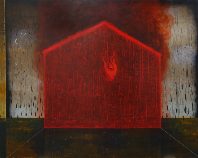 , 'Red House In Black Rain (for Jimi Hendrix),' 2017, Hemphill Artworks