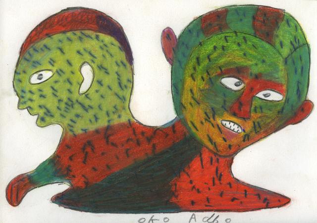 , 'Untitled (Deux têtes aux petits traits),' 2008, Magnin-A